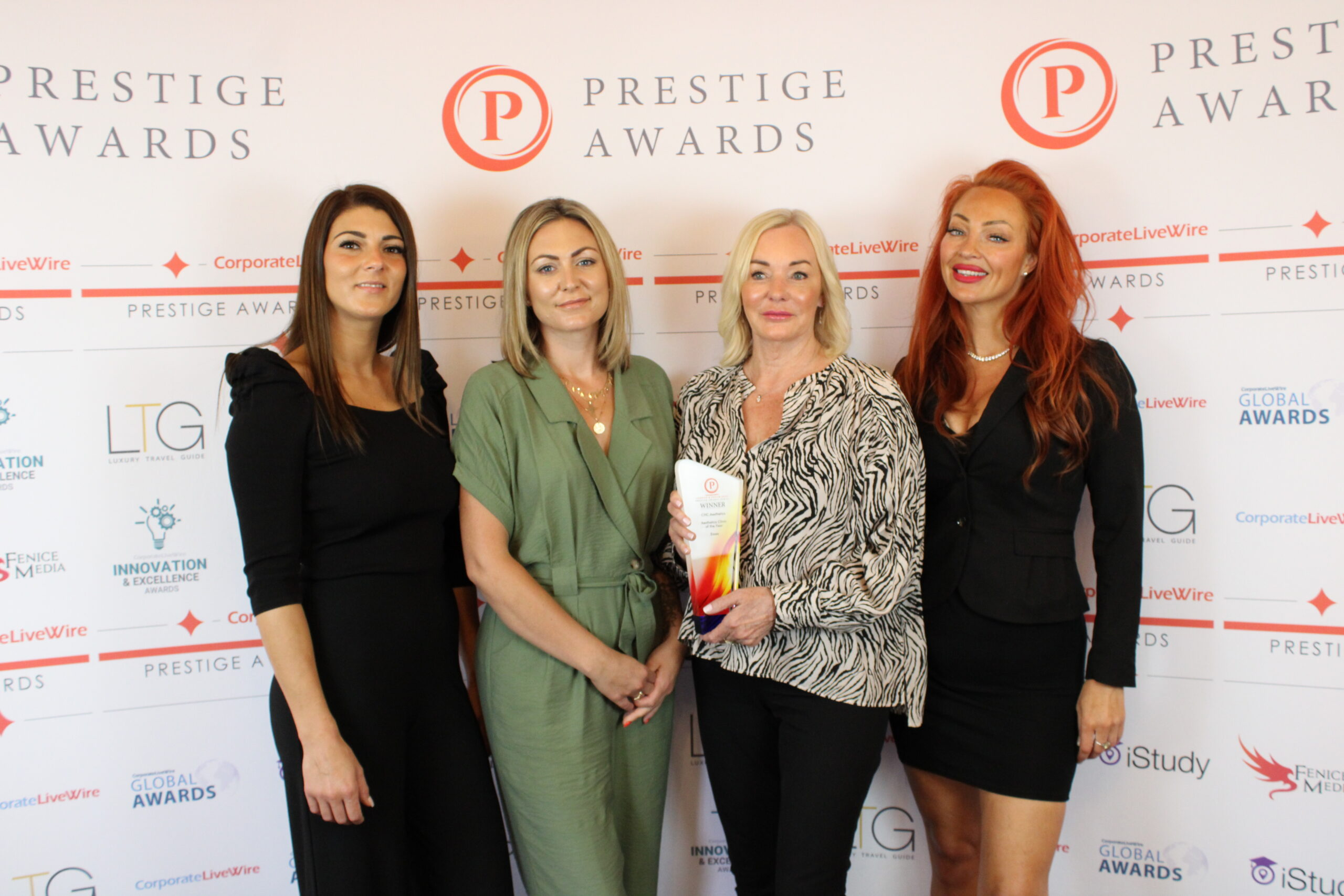 Awardwinning CHC Aesthetics founder Penny Hawker with members of the team
